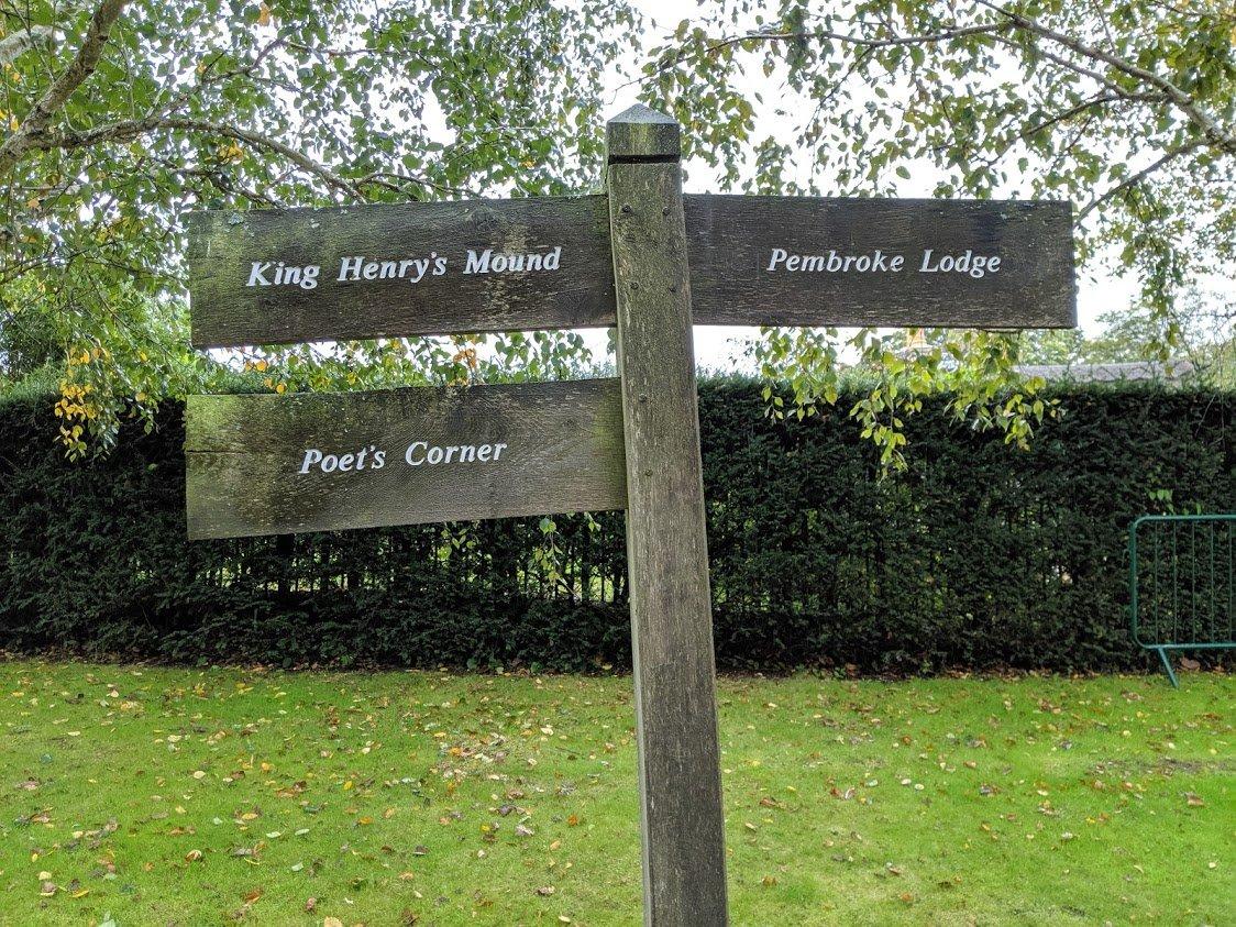 Playground Earth   Richmond Park Sign   London