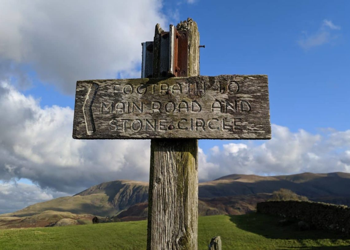 Playground Earth | Castlerigg Stone Circle l Old sign