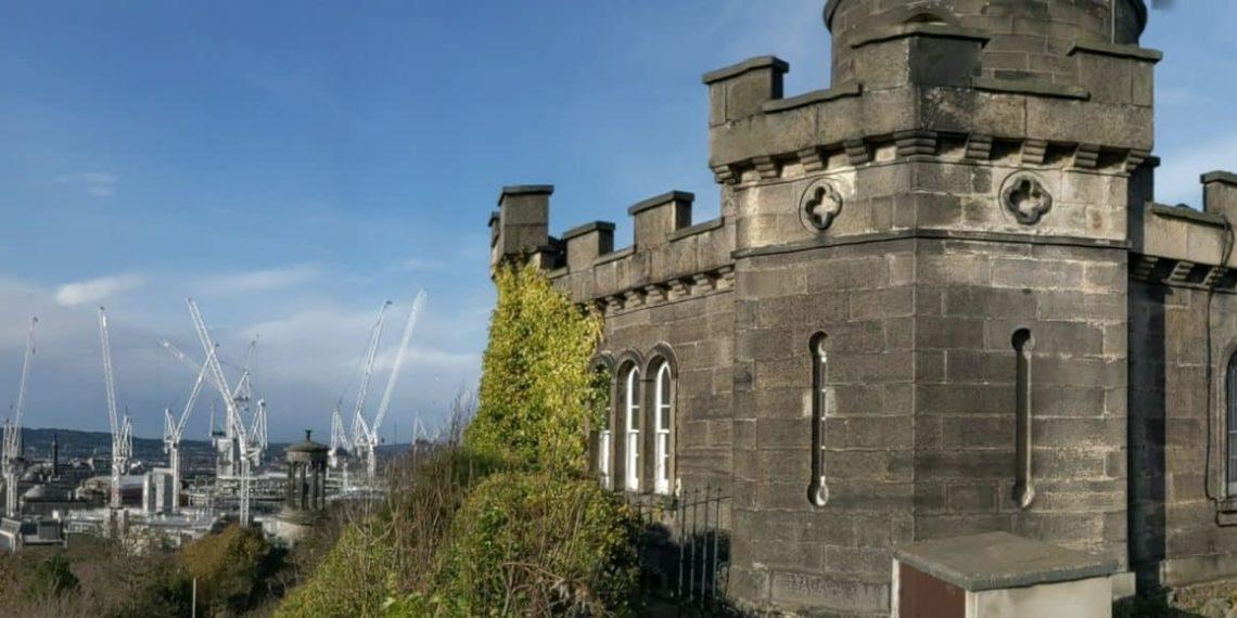 Playground Earth | Edinburgh Castle & Cranes