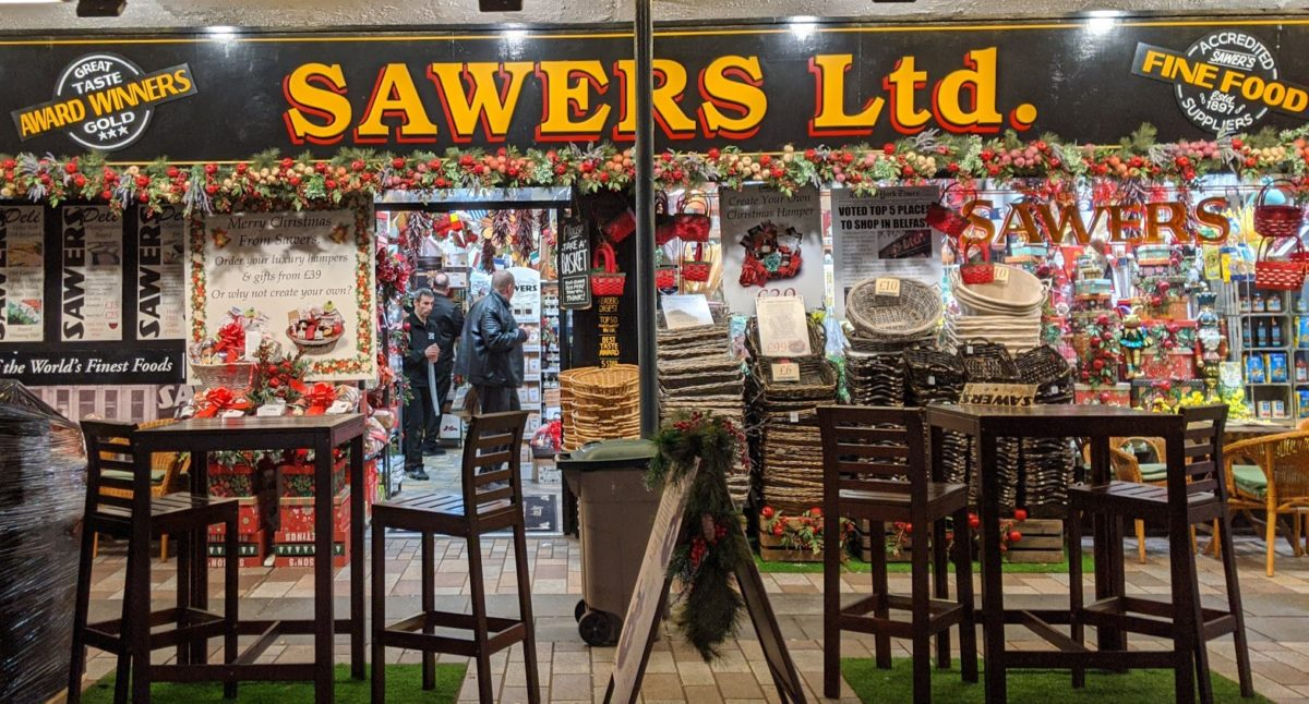 Playground Earth | Travel Story | Sawers Belfast Market Entrance