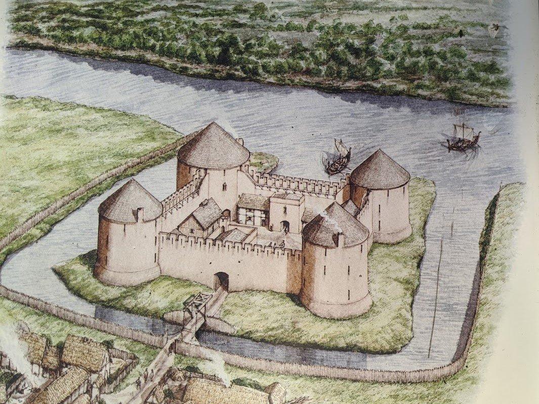 Playground Earth l Old Inverlochy Castle l Original depiction