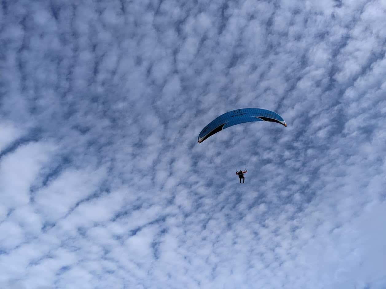 Playground Earth ParaglidingnearSantaBarbaraBeachblueskywithclouds 1