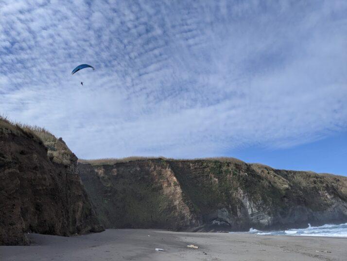 Playground Earth ParaglidingnearSantaBarbaraBeachfeatureshot