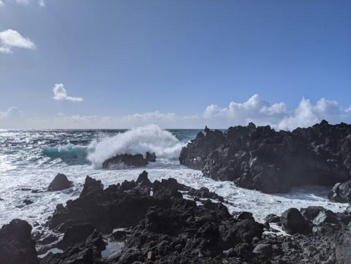 The mighty Atlantic meets the lava delta
