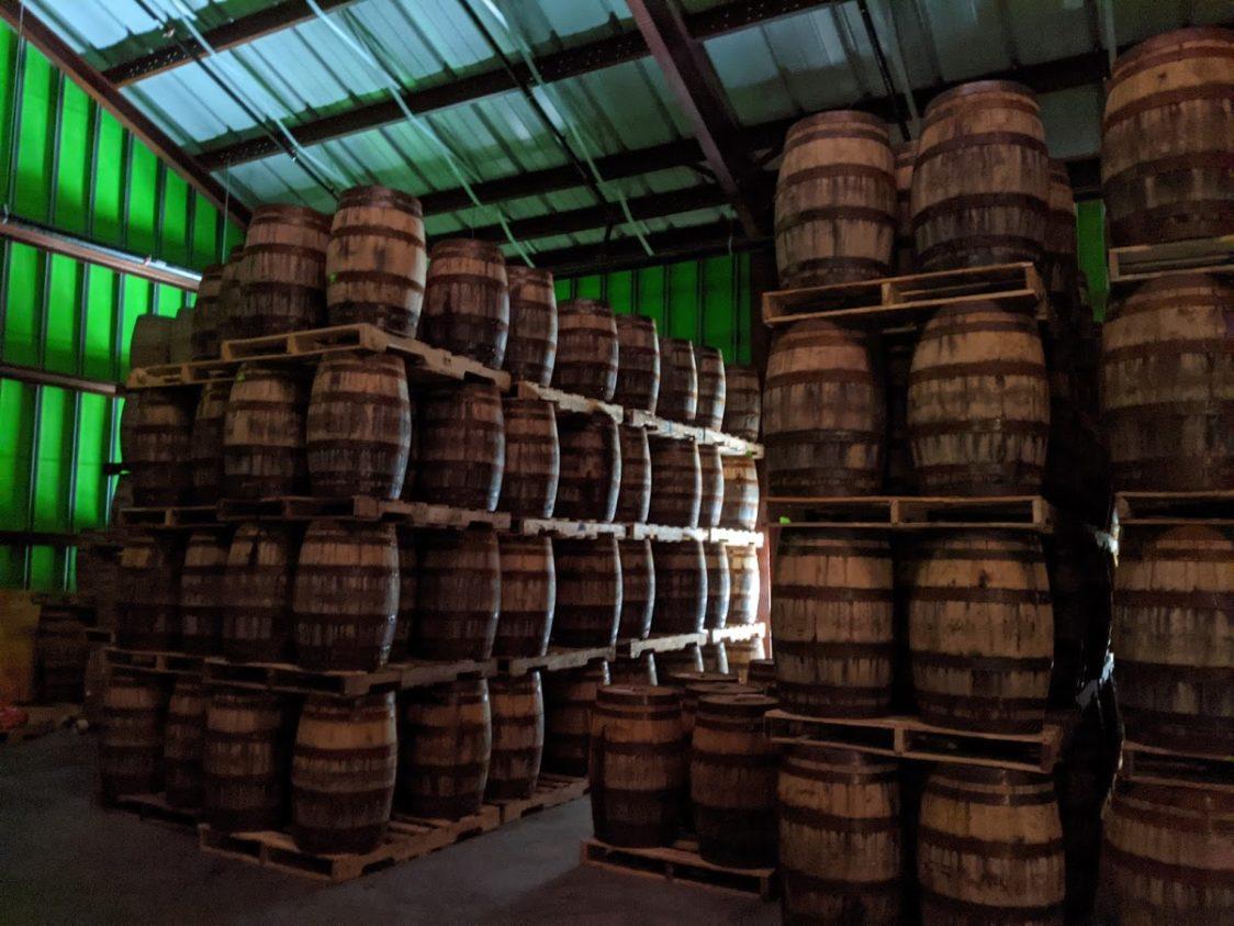 PGE l Burnt Church Distillery l The barrel aging room