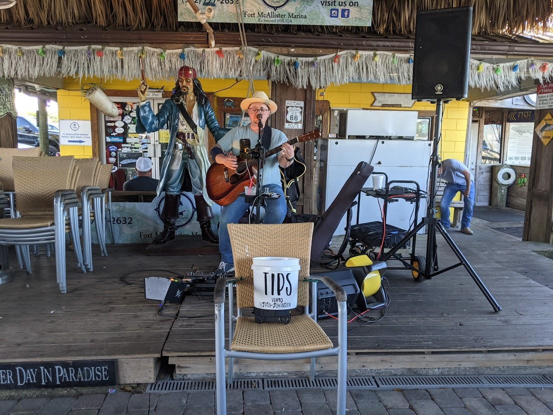 PGE l Fish Tales l Thursday live music l Check out that ambitious tip jar!