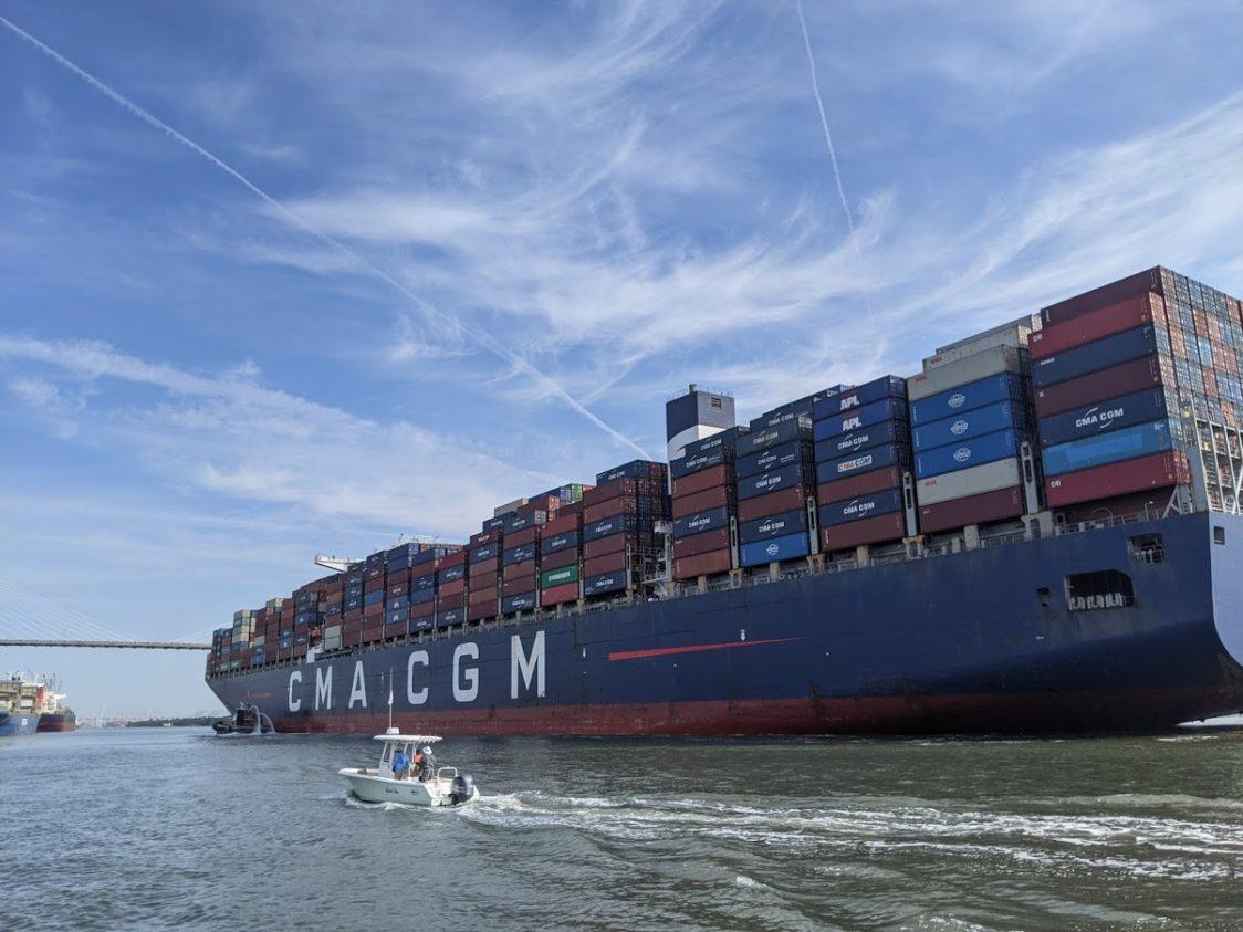 PGE l Marco Polo l Heading toward Savannah Harbor